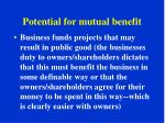 potential for mutual benefit2