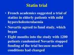 statin trial