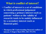 what is conflict of interest