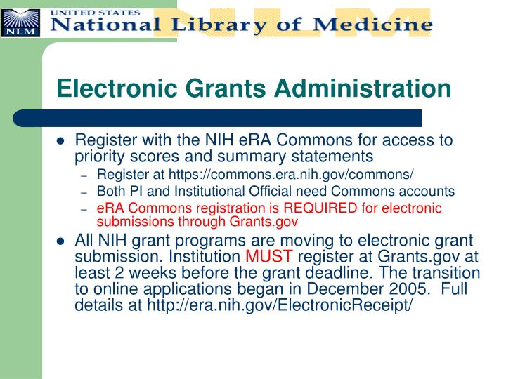 Electronic Grants Administration