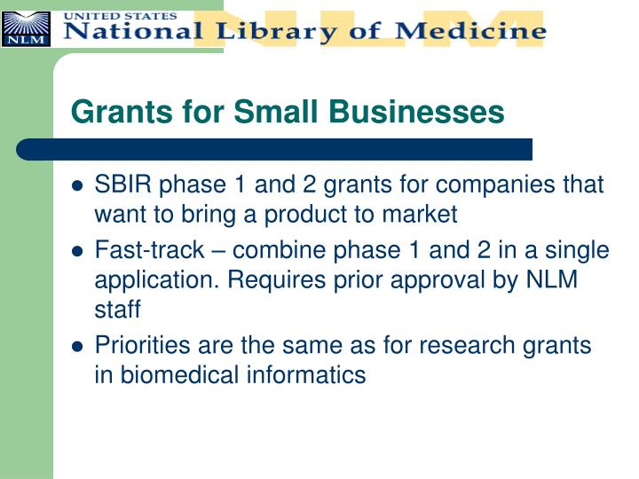 Grants for Small Businesses