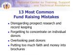 13 most common fund raising mistakes1