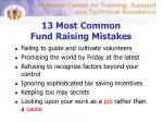 13 most common fund raising mistakes2