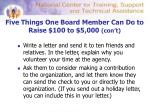 five things one board member can do to raise 100 to 5 000 con t