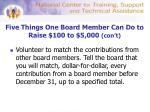 five things one board member can do to raise 100 to 5 000 con t3