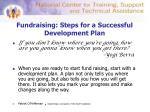 fundraising steps for a successful development plan