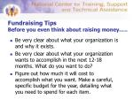 fundraising tips before you even think about raising money