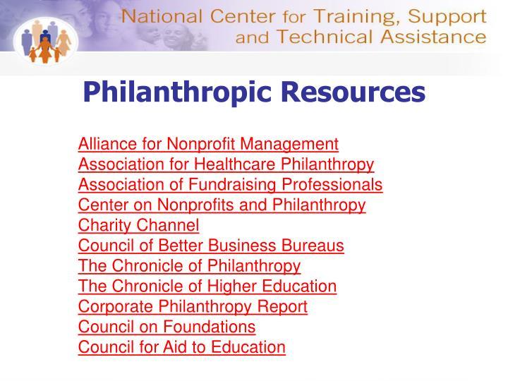 Philanthropic Resources