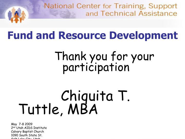 Fund and Resource Development