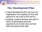 the development plan