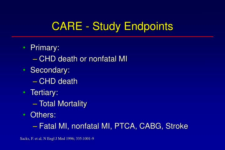 CARE - Study Endpoints