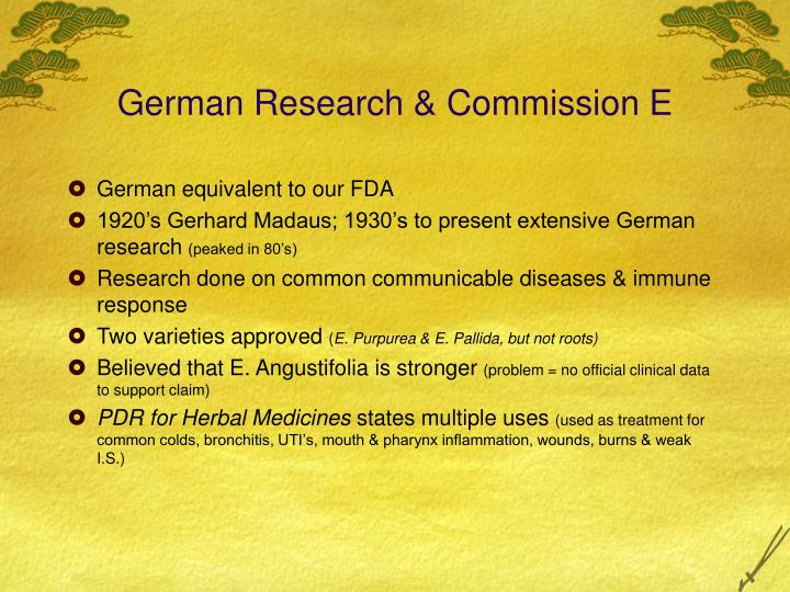 German Research & Commission E