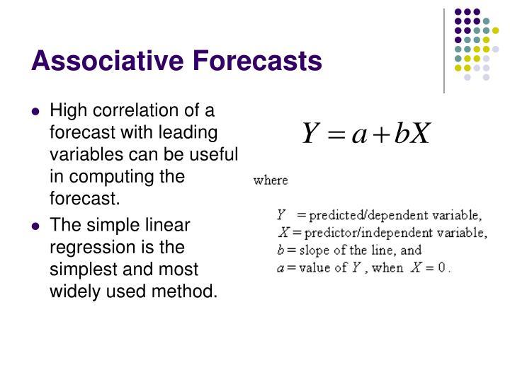 Associative Forecasts