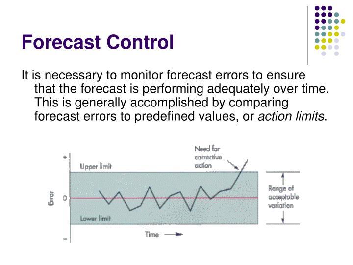 Forecast Control