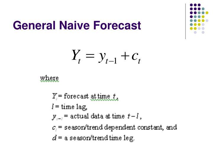 General Naive Forecast