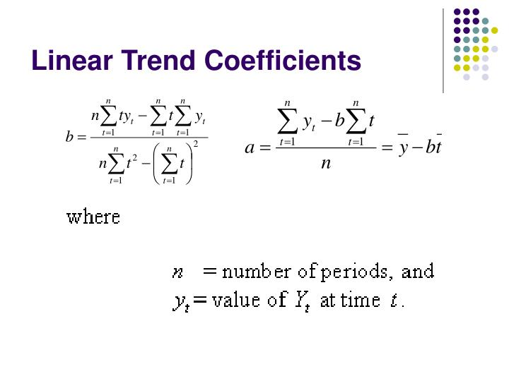 Linear Trend Coefficients