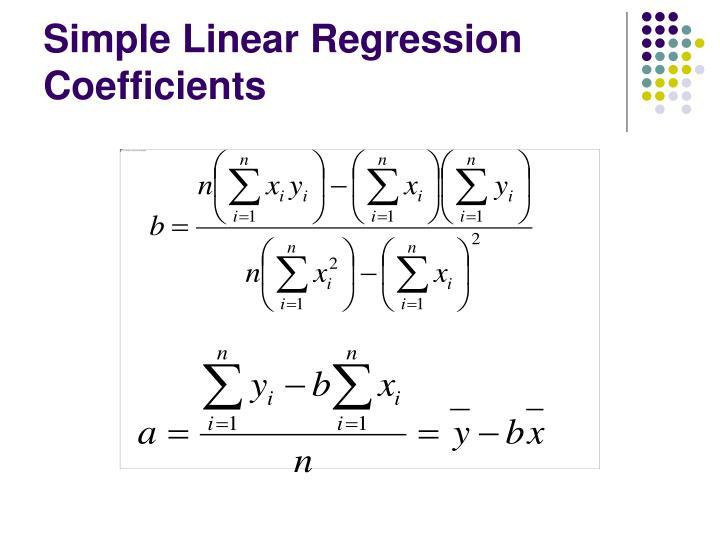 Simple Linear Regression Coefficients