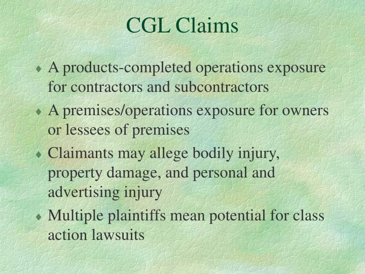 CGL Claims