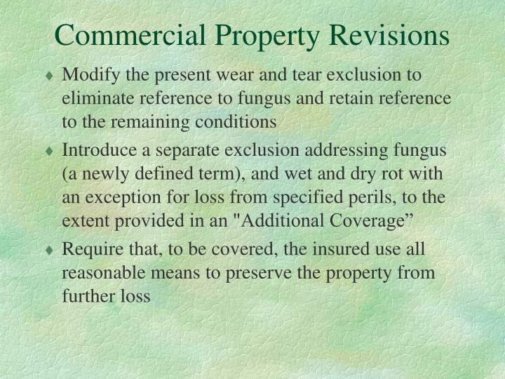 Commercial Property Revisions