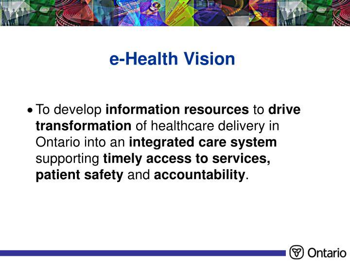 e-Health Vision