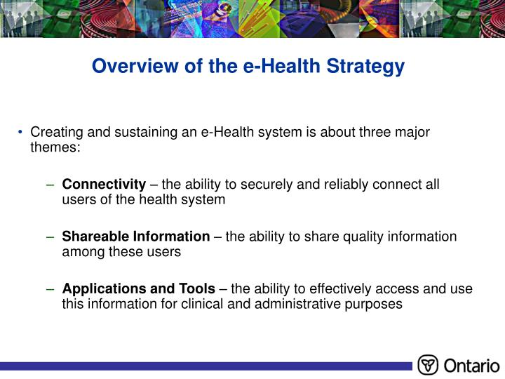 Overview of the e-Health Strategy