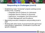 responding to challenges cont d