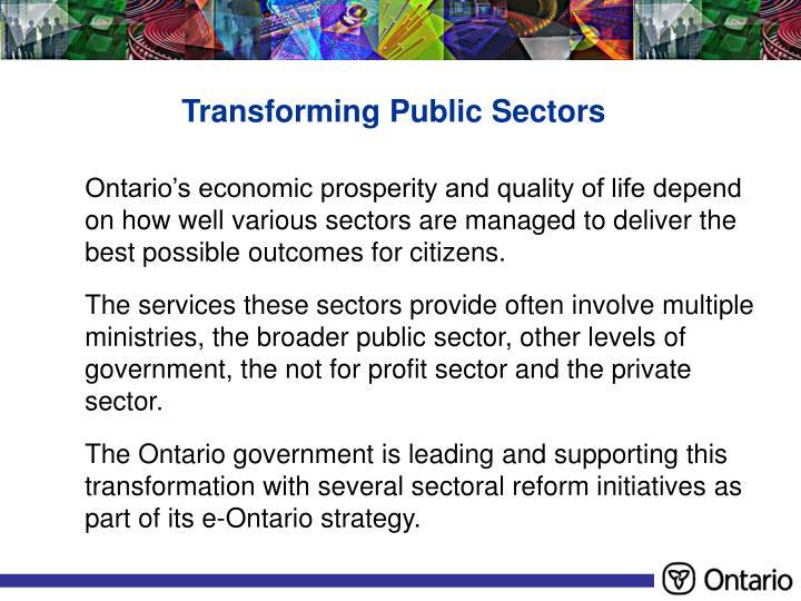 Transforming Public Sectors