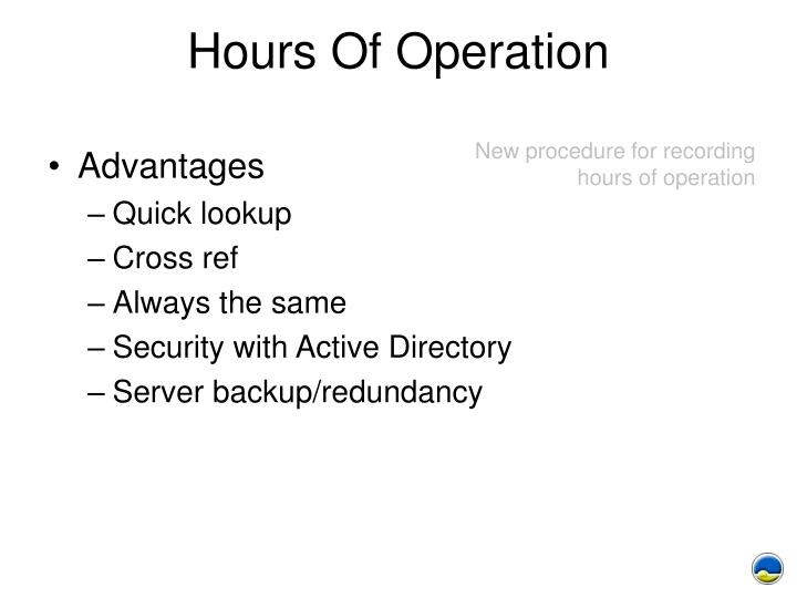 Hours Of Operation