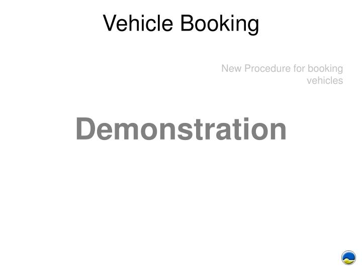 Vehicle Booking