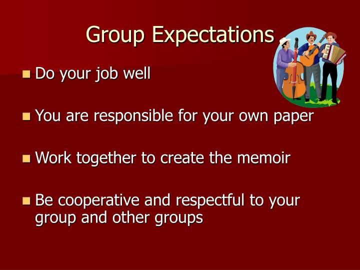 Group Expectations
