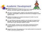 academic development
