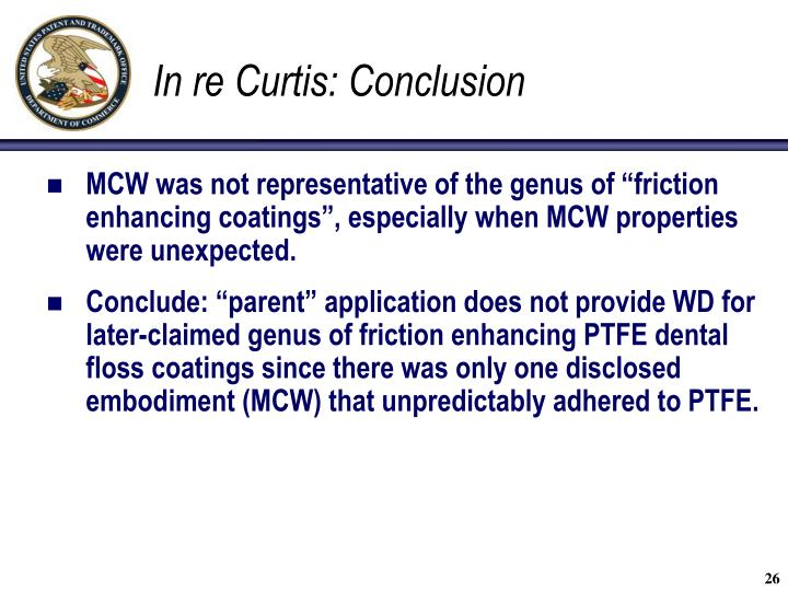 In re Curtis: Conclusion