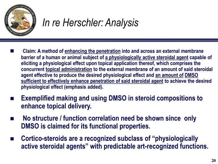 In re Herschler: Analysis