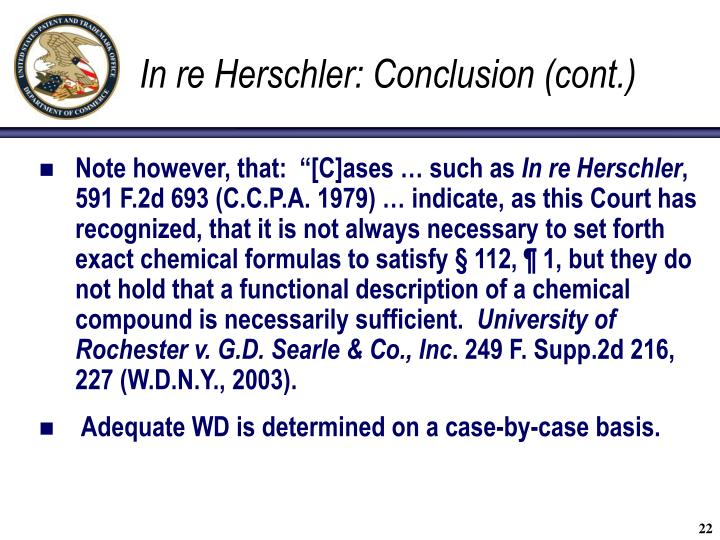 In re Herschler: Conclusion (cont.)