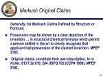 markush original claims