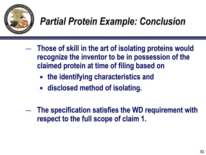 Partial Protein Example: Conclusion