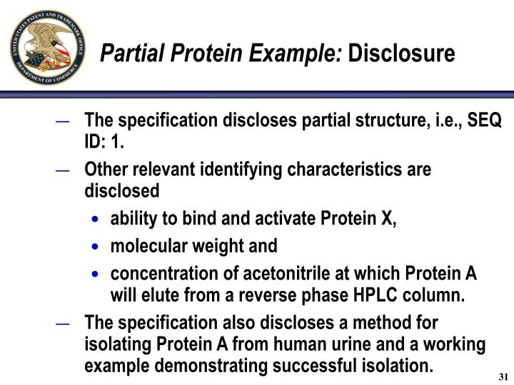 Partial Protein Example:
