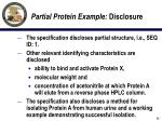 partial protein example disclosure