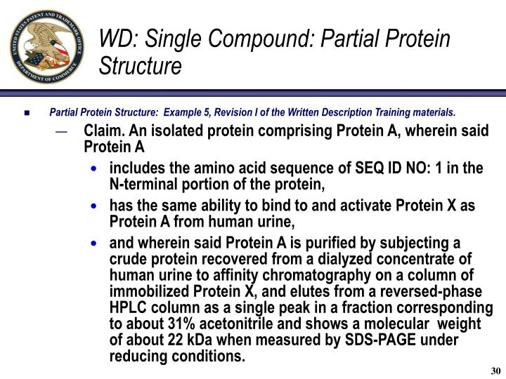 WD: Single Compound: Partial Protein Structure
