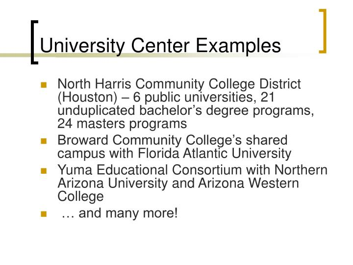University Center Examples