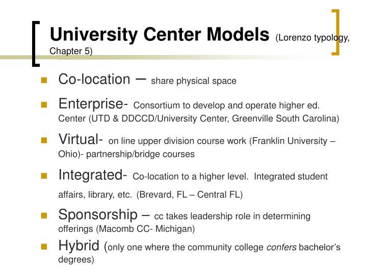 University Center Models