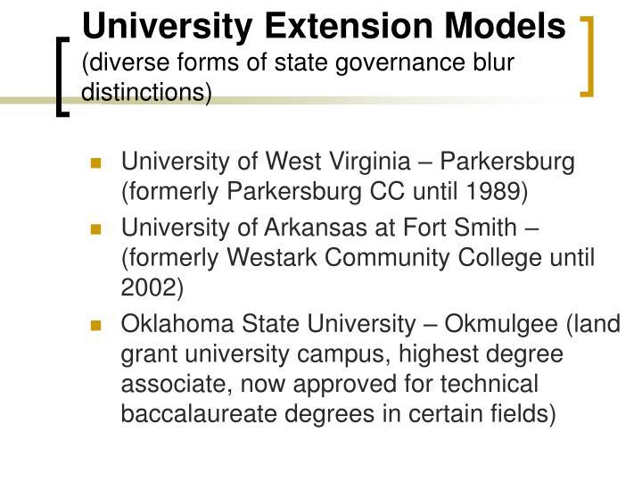 University Extension Models