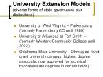 university extension models diverse forms of state governance blur distinctions