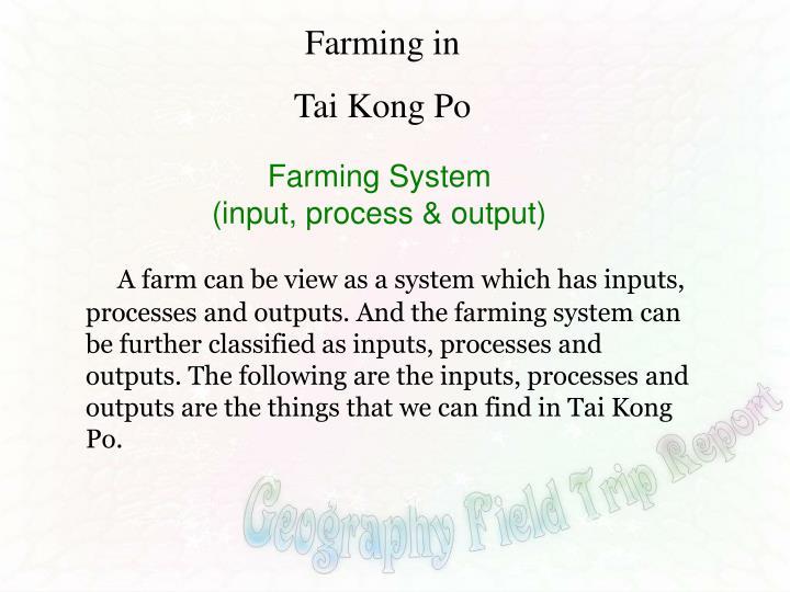 Farming in