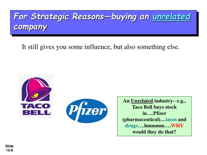 For Strategic Reasons—buying an