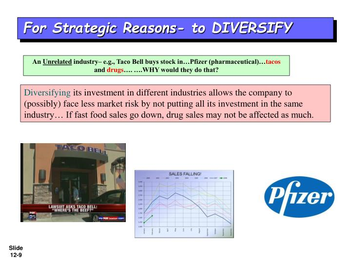 For Strategic Reasons- to DIVERSIFY