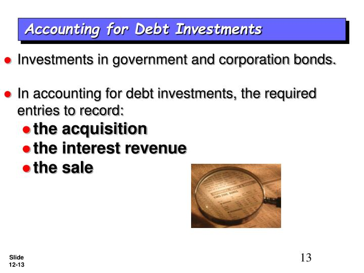 Investments in government and corporation bonds.