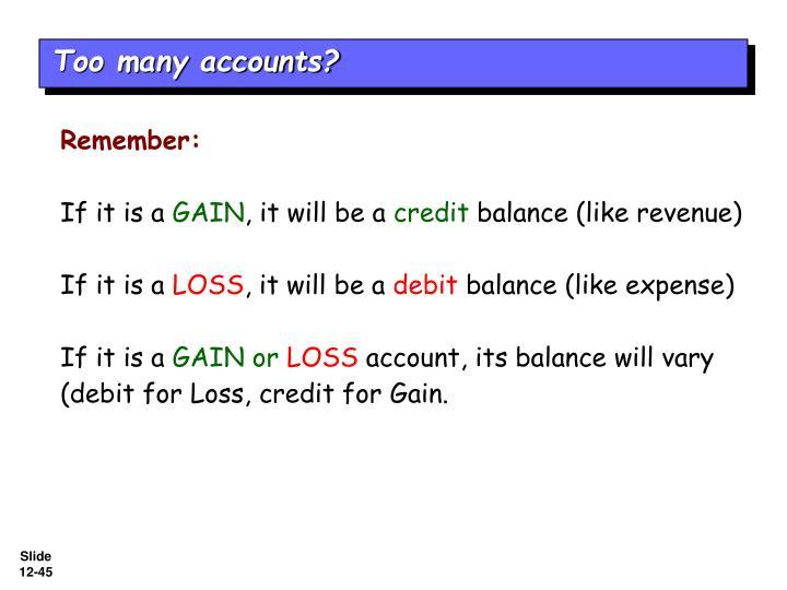 Too many accounts?