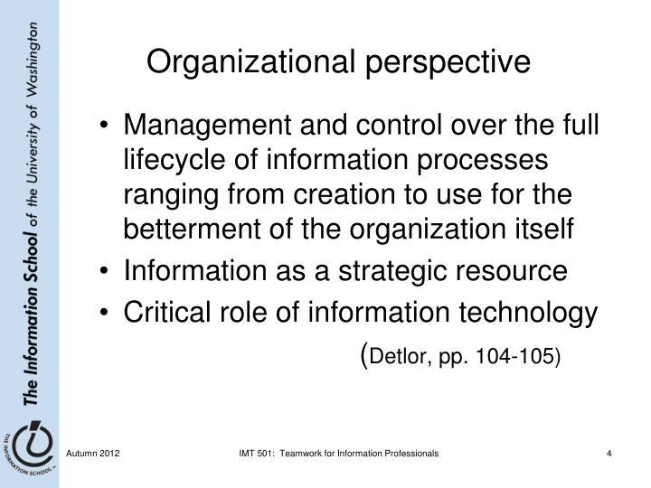 Organizational perspective