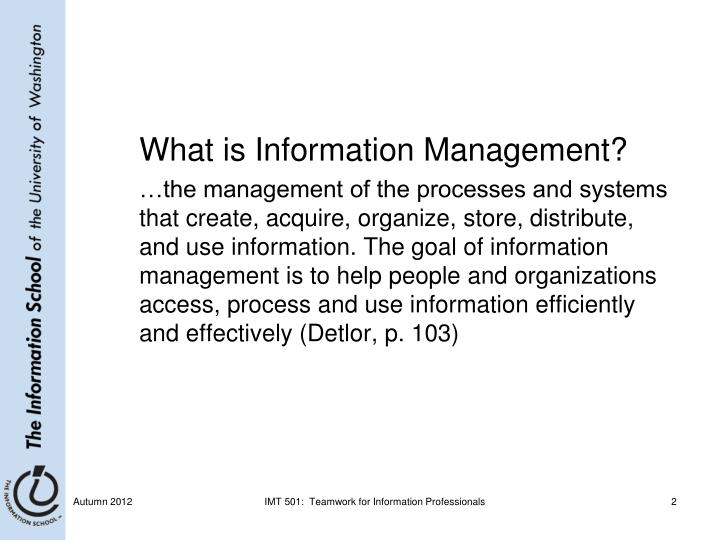 What is Information Management?